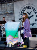 Jenny Lewis performs during the 2014 Newport Folk Festival at Fort Adams State Park on July 25 2014 in Newport Rhode Island