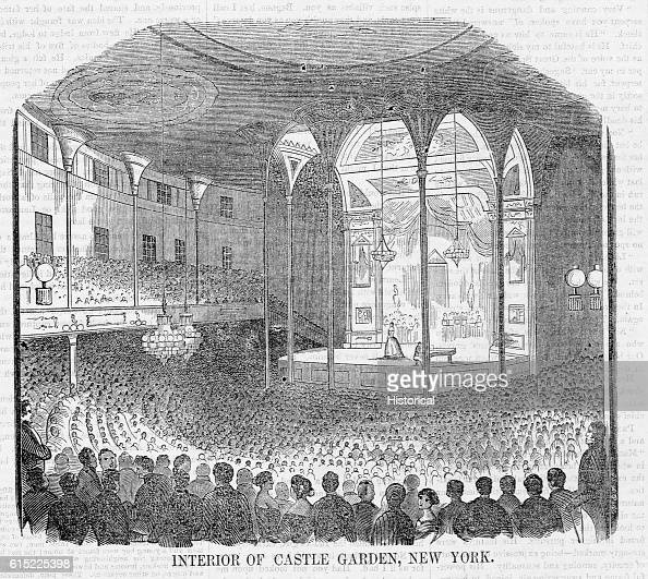 Jenny Lind a noted soprano gave popular concerts for New Yorkers at Castle Garden in 1851
