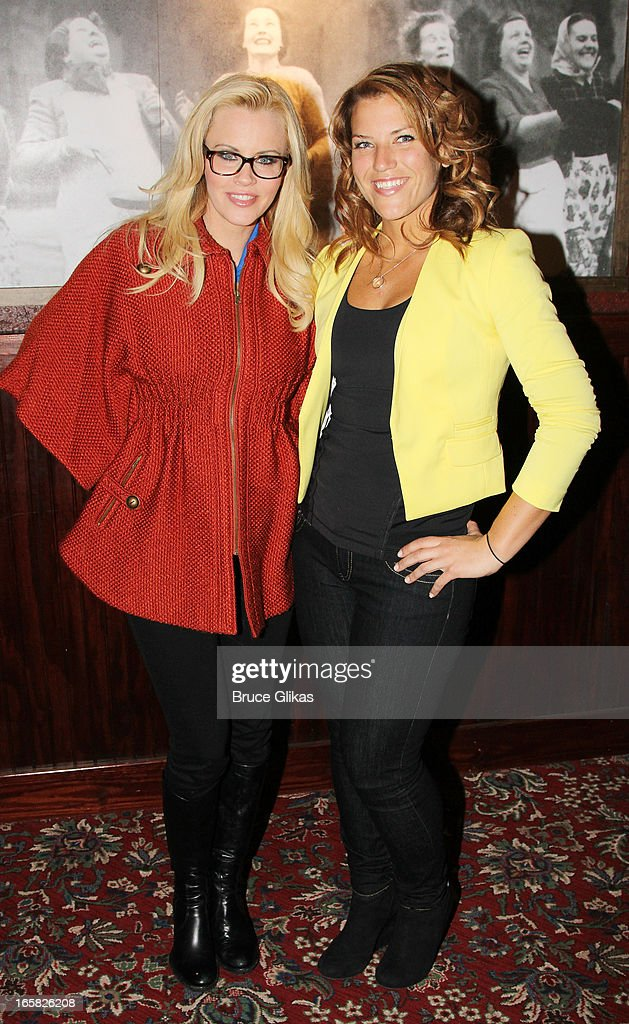 <a gi-track='captionPersonalityLinkClicked' href=/galleries/search?phrase=Jenny+McCarthy&family=editorial&specificpeople=202900 ng-click='$event.stopPropagation()'>Jenny McCarthy</a> and 2013 'The Biggest Loser' winner Dannielle 'Danni' Allen visit Buca di Beppo in Times Square on April 5, 2013 in New York City.