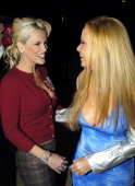 Jenny McCarthy and Cindy Margolis during VH1 Big in '04 Red Carpet at Shrine Auditorium in Los Angeles California United States