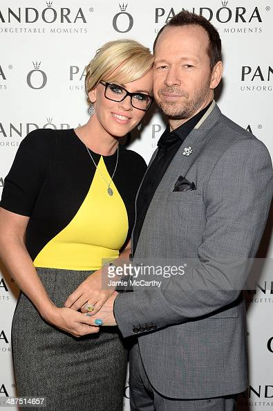 Jenny McCarthy and Donnie Wahlberg attend PANDORA Jewelry Presents A Pre Mother's Day Dinner With Jenny McCarthy And Friends on April 30 2014 in New...