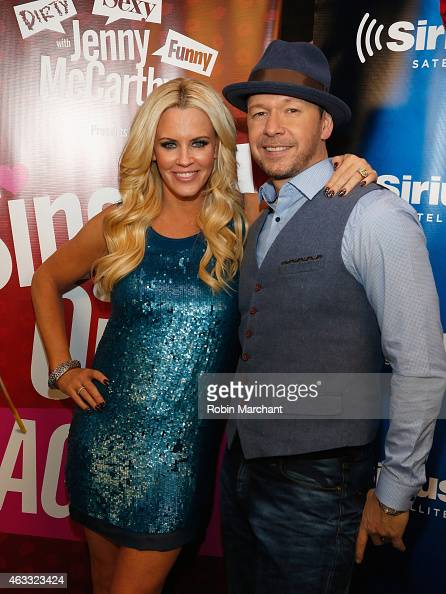 Jenny McCarthy and Donnie Wahlberg attend 'Singled OutAgain' On Her Exclusive SiriusXM Show 'Dirty Sexy Funny With Jenny McCarthy' on February 12...