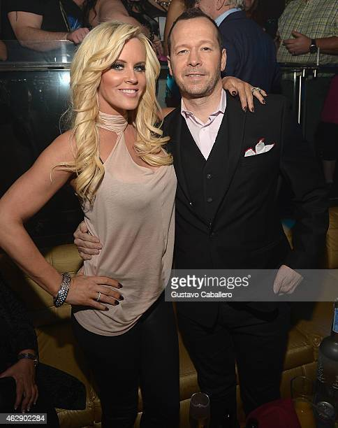 Jenny McCarthy and Donnie Wahlberg Host E11even Miami's 1 Year Anniversary at E11EVEN on February 7 2015 in Miami Florida