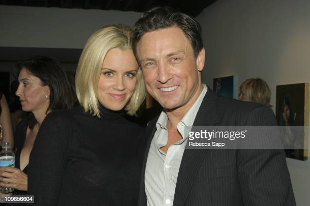 Jenny McCarthy and Dr Randal Haworth during Dr Randal Haworth Art Show at 216 N Canyon Drive in Beverly Hills California United States