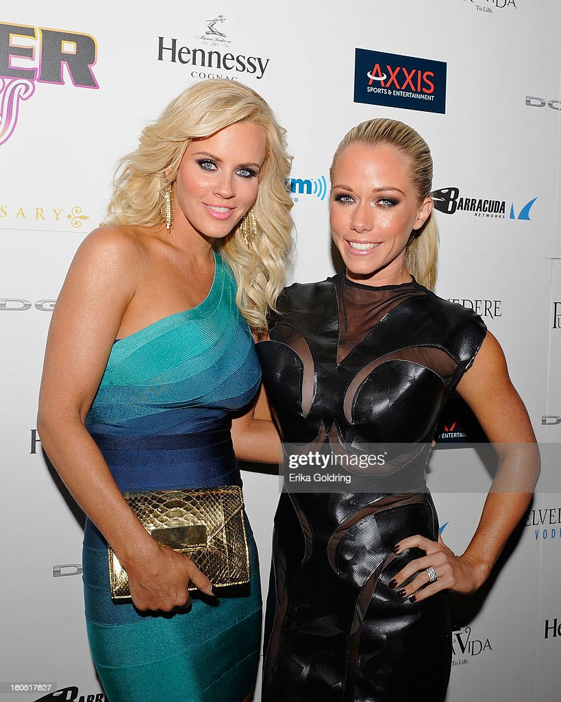 <a gi-track='captionPersonalityLinkClicked' href=/galleries/search?phrase=Jenny+McCarthy&family=editorial&specificpeople=202900 ng-click='$event.stopPropagation()'>Jenny McCarthy</a> and <a gi-track='captionPersonalityLinkClicked' href=/galleries/search?phrase=Kendra+Wilkinson&family=editorial&specificpeople=539064 ng-click='$event.stopPropagation()'>Kendra Wilkinson</a> attend the Tenth Annual Leather & Laces Super Bowl Party on February 1, 2013 in New Orleans, Louisiana.