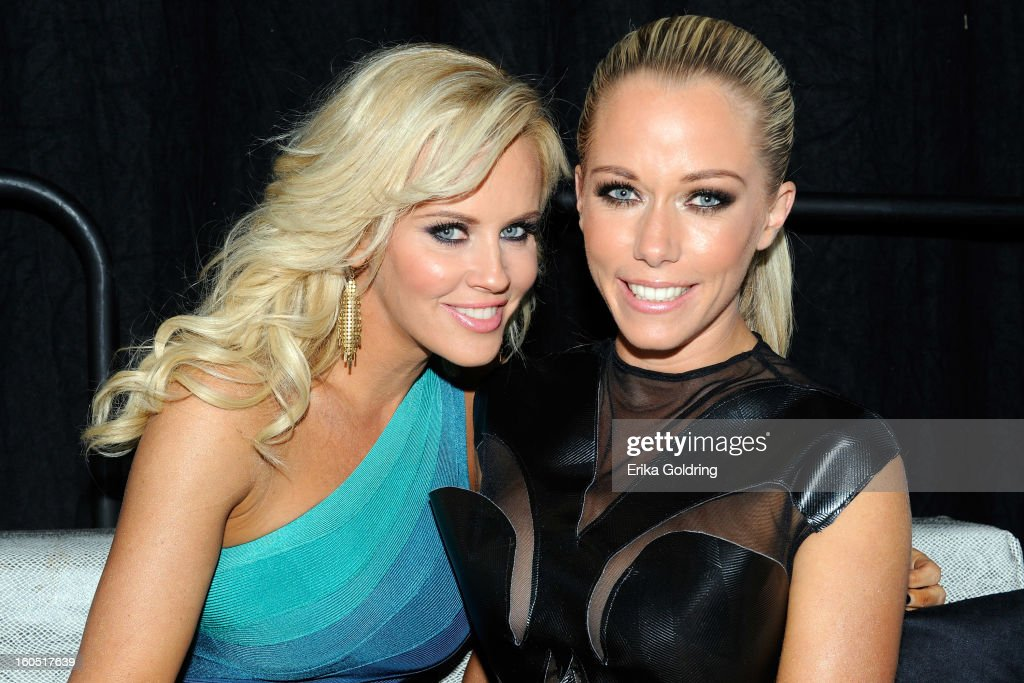Jenny McCarthy and Kendra Wilkinson attend the Tenth Annual Leather & Laces Super Bowl Party on February 1, 2013 in New Orleans, Louisiana.