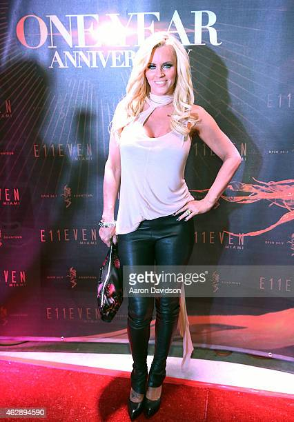 Jenny McCarthy attends E11even Miami's 1 Year Anniversary at E11EVEN on February 6 2015 in Miami Florida