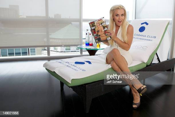 Jenny McCarthy attends Jenny McCarthy Hosts CIROC Cabana Club Celebrating Playboy Magazine 'Where The Bunny Began' on July 21 2012 in Chicago Illinois