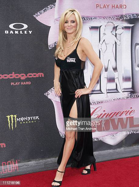 Jenny McCarthy during Bodogcom Presents the 2006 Lingerie Bowl at Los Angels Memorial Coliseum in Los Angeles California United States