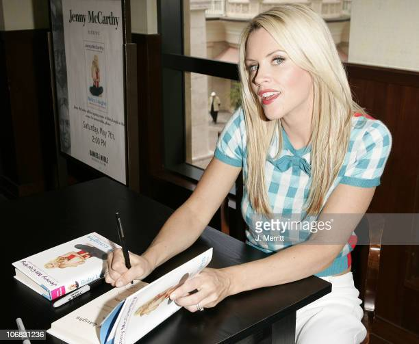 Jenny McCarthy during Jenny McCarthy Signs Her Book 'Baby Laughs' at Barnes Noble in New York City May 7 2005 at Barnes and Noble Bookstore at The...
