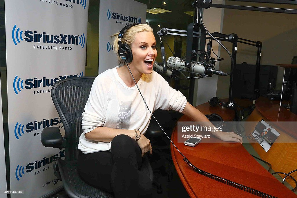 Jenny McCarthy hosts her limitedrun SiriusXM show 'Dirty Sexy Funny with Jenny McCarthy' live on SiriusXM Stars at SiriusXM studios on July 16 2014...