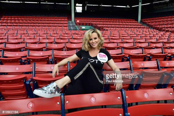 Jenny McCarthy hosts her SiriusXM Show backstage at Fenway Park in Boston before The New Kids On The Block Sold Out Hometown Concert at Fenway Park...