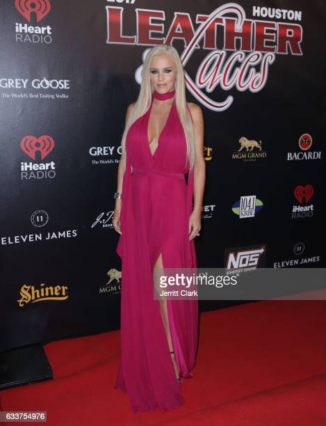 Jenny McCarthy hosts the 4th Annual 'Leather Laces' Spectacular During Super Bowl LI Weekend at Hughes Manor on February 3 2017 in Houston Texas