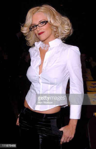 Jenny McCarthy presenter during 33rd Annual American Music Awards Backstage at Shrine Auditorium in Los Angeles California United States