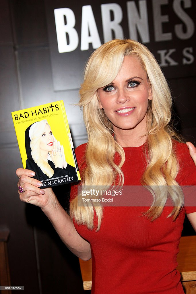 Jenny McCarthy signs copies of her new book 'Bad Habits' at Barnes & Noble bookstore at The Grove on October 8, 2012 in Los Angeles, California.