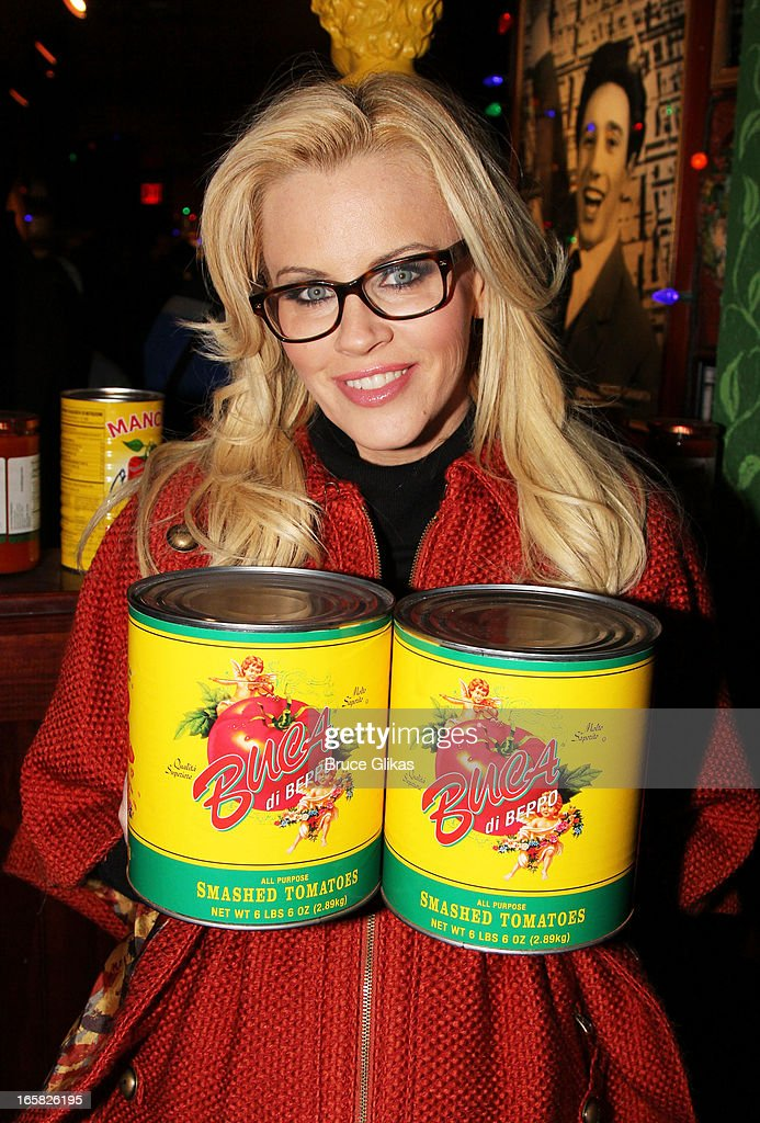 <a gi-track='captionPersonalityLinkClicked' href=/galleries/search?phrase=Jenny+McCarthy&family=editorial&specificpeople=202900 ng-click='$event.stopPropagation()'>Jenny McCarthy</a> visits Buca di Beppo in Times Square on April 5, 2013 in New York City.
