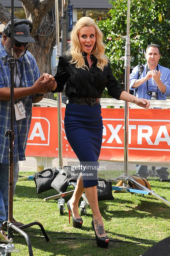 Jenny McCarthy visits Extra at The Grove on February 12, 2013 in Los Angeles, California.