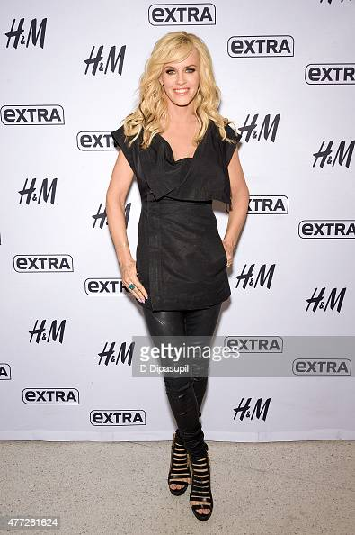 Jenny McCarthy visits 'Extra' at their New York studios at HM in Times Square on June 15 2015 in New York City
