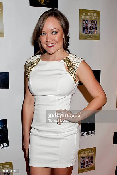 Jenny McClain attends the 'Not Another Celebrity Movie' Los Angeles premiere at Pacific Design Center on January 17 2013 in West Hollywood California