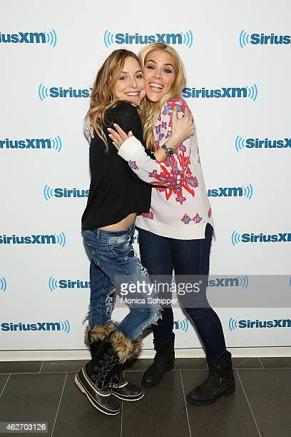 Jenny Mollen and Busy Philipps visit SiriusXM Studios on February 3 2015 in New York City