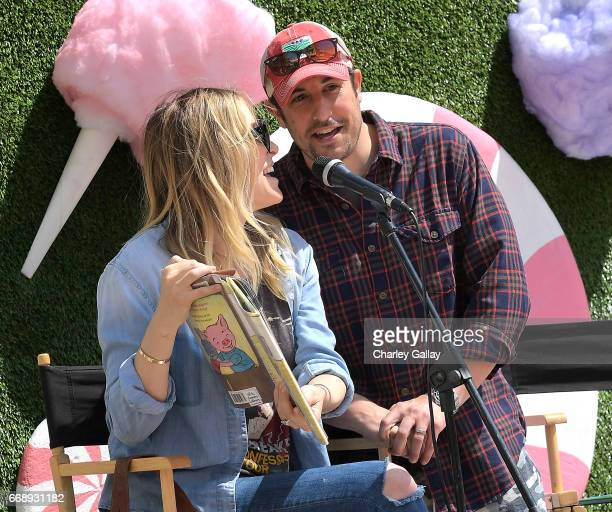 Jenny Mollen and Jason Biggs attend The Grove Hosts Golden Ticket to Imagination with MilkBookies at The Grove on April 15 2017 in Los Angeles...