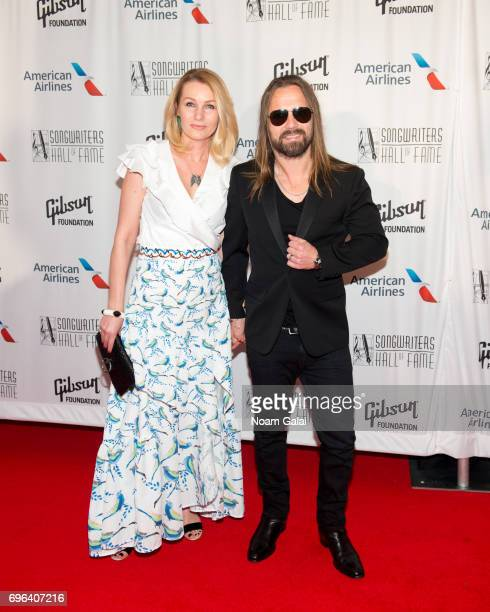 Jenny Petersson and Max Martin attend the 48th Annual Songwriters Hall Of Fame Induction and Awards Gala at New York Marriott Marquis Hotel on June...