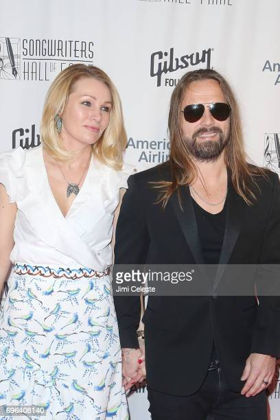 Jenny Petersson and Max Martin attends the Songwriters Hall Of Fame 48th Annual Induction And Awards at New York Marriott Marquis Hotel on June 15...