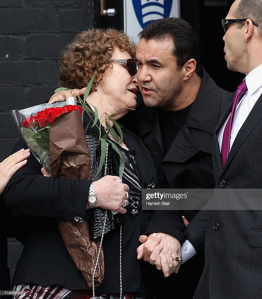 Jenny Rose wife of Lionel Rose is consoled by former boxer Jeff Fenech after the State Funeral held for former Australian boxer Lionel Rose at Festival Hall on May 16, 2011 in Melbourne, Australia. Rose, who passed away on May 8, was the first indigenous Australian to win a boxing world title and was the 1968 Australian of the Year.