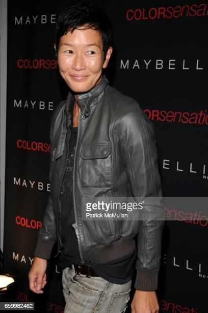 Jenny Shimizu attends MAYBELLINE NEW YORK Celebrates the Launch of COLOR SENSATIONAL Lipcolor at The Glass Houses on May 14 2009 in New York City