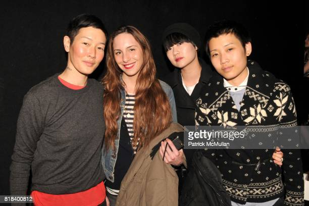 Jenny Shimizu Susi Kenna Bettina Chin and Michelle Wang attend JOHN BARTLETT Fall/Winter 2010 Runway Show at 174 Hudson St on February 10 2010 in New...