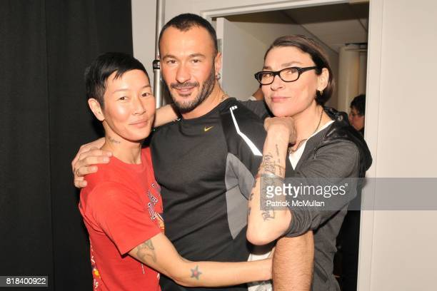 Jenny Shimizu Wilfried Knight and Edwige attend JOHN BARTLETT Fall/Winter 2010 Runway Show at 174 Hudson St on February 10 2010 in New York City