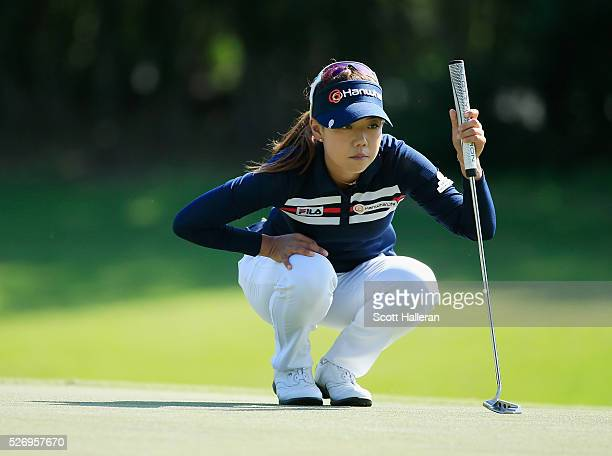 Jenny Shin looks over the 17th green during the final round of the Volunteers of America Texas Shootout at Las Colinas Country Club on May 1 2016 in...