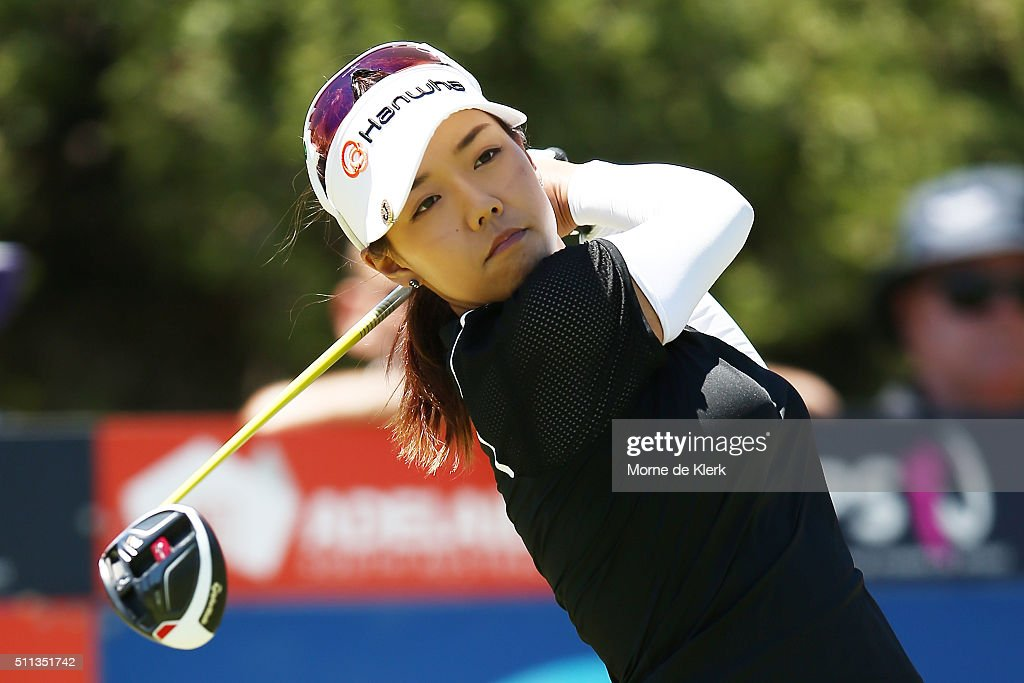 Jenny Shin of Korea competes during day three of the ISPS Handa Women's Australian Open at The Grange GC on February 20, 2016 in Adelaide, Australia.