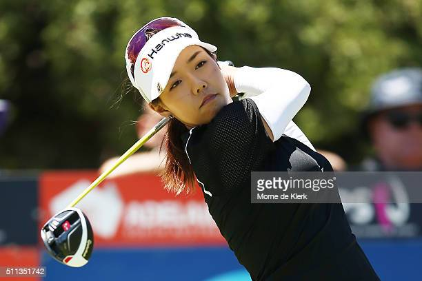Jenny Shin of Korea competes during day three of the ISPS Handa Women's Australian Open at The Grange GC on February 20 2016 in Adelaide Australia