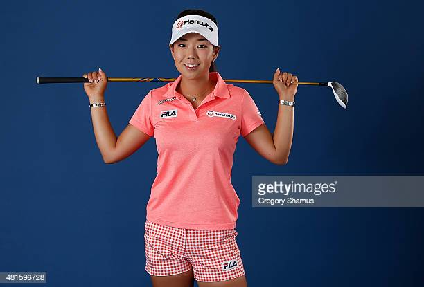 Jenny Shin of South Korea poses for a portrait prior to the Meijer LPGA Classic presented by Kraft at Blythefield Country Club on July 22 2015 in...