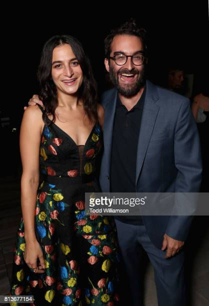 Jenny Slate and Jay Duplass attend the Los Angeles premiere of 'Landline' at ArcLight Hollywood Cinemas on July 12 2017 in Los Angeles California