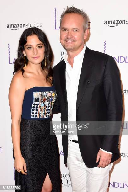 Jenny Slate and Roy Price attend the 'Landline' New York Premiere at The Metrograph on July 18 2017 in New York City