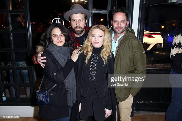 Jenny Slate Brett Gelman Natasha Lyonne and Nick Kroll attend the 'Antibirth' Premiere Party at The Acura Studio at Sundance Film Festival 2016 on...
