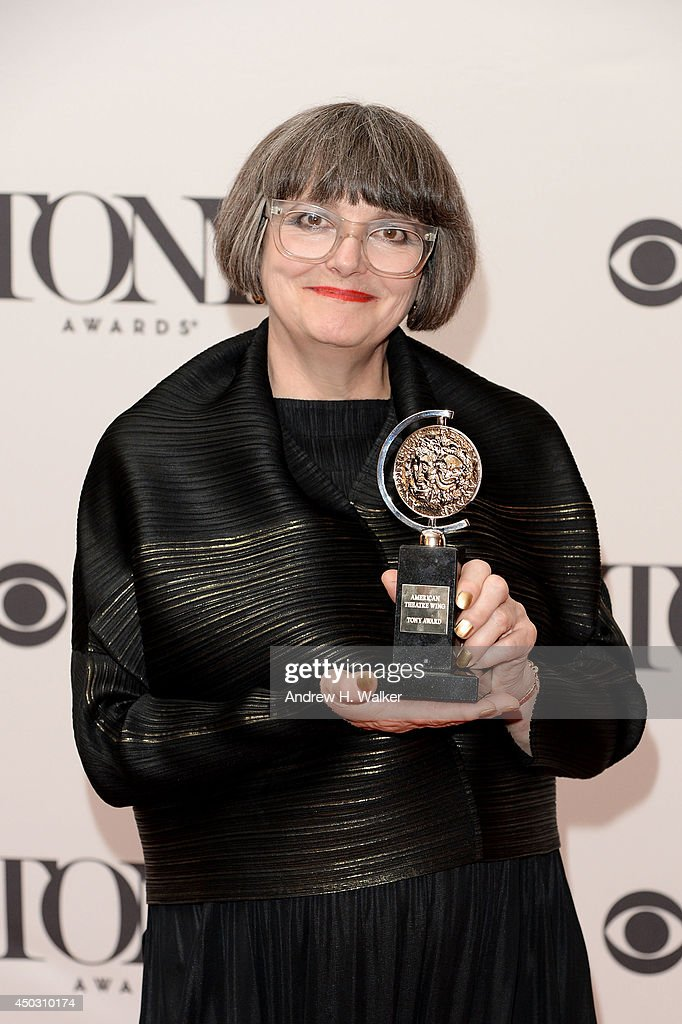 Jenny Tiramani, winner of the Tony Award for Best Costume Design of a Play for 'Twelfth Night' poses in the press room during the 68th Annual Tony Awards on June 8, 2014 in New York City.
