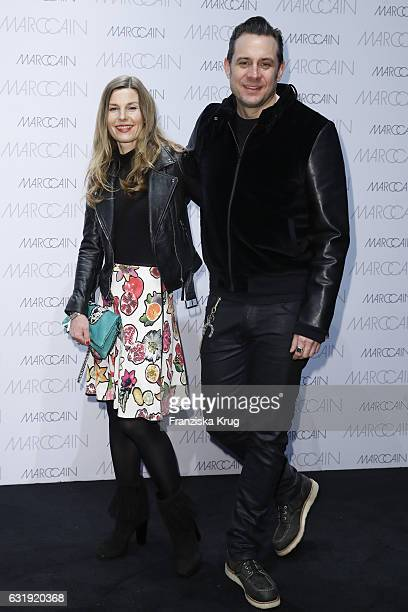 Jenny Vollmer and Sascha Vollmer attend the Marc Cain fashion show A/W 2017 at Deutsche Telekom representation on January 17 2017 in Berlin Germany