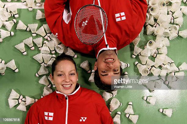 Jenny Wallwork and Nathan Robertson of the England Badminton squad pose for a picture at the National Badminton Centre on February 23 2011 in Milton...