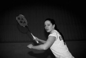Jenny Wallwork of the England Badminton squad poses for a picture at the National Badminton Centre on February 23 2011 in Milton Keynes England