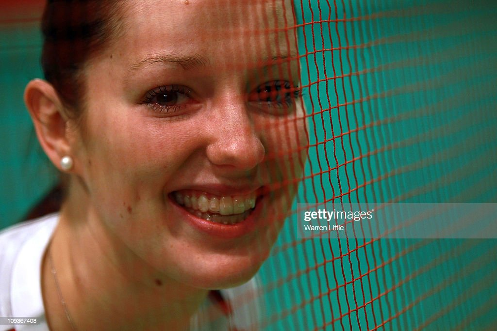 Jenny Wallwork of the England Badminton squad posse for a picture at the National Badminton Centre on February 23, 2011 in Milton Keynes, England.