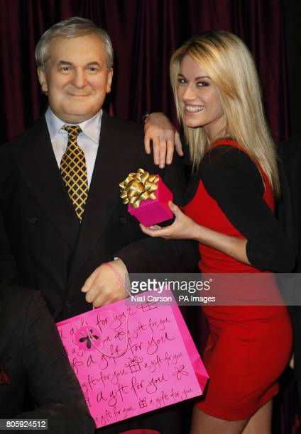 JennyLee Masterson pictured with a mannequin of former Taoiseach Bertie Ahern at Dublin's wax museum plus to launch the Dublin Bus Ticket Thursday's...