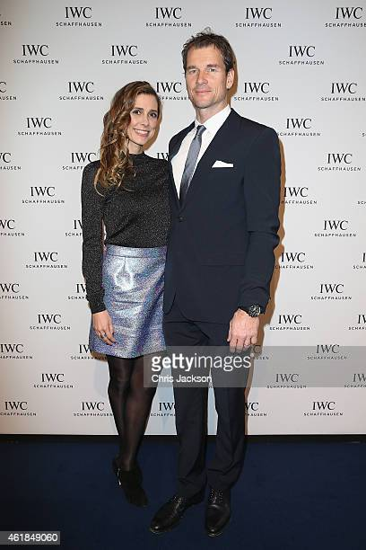 Jens and Conny Lehmann attend the IWC Gala Dinner during the Salon International de la Haute Horlogerie 2015 at the Palexpo on January 20 2015 in...