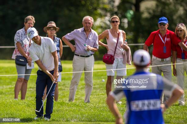 Jens Fahrbring of Sweden is seen during day two of the Saltire Energy Paul Lawrie Matchplay at Golf Resort Bad Griesbach on August 18 2017 in Passau...
