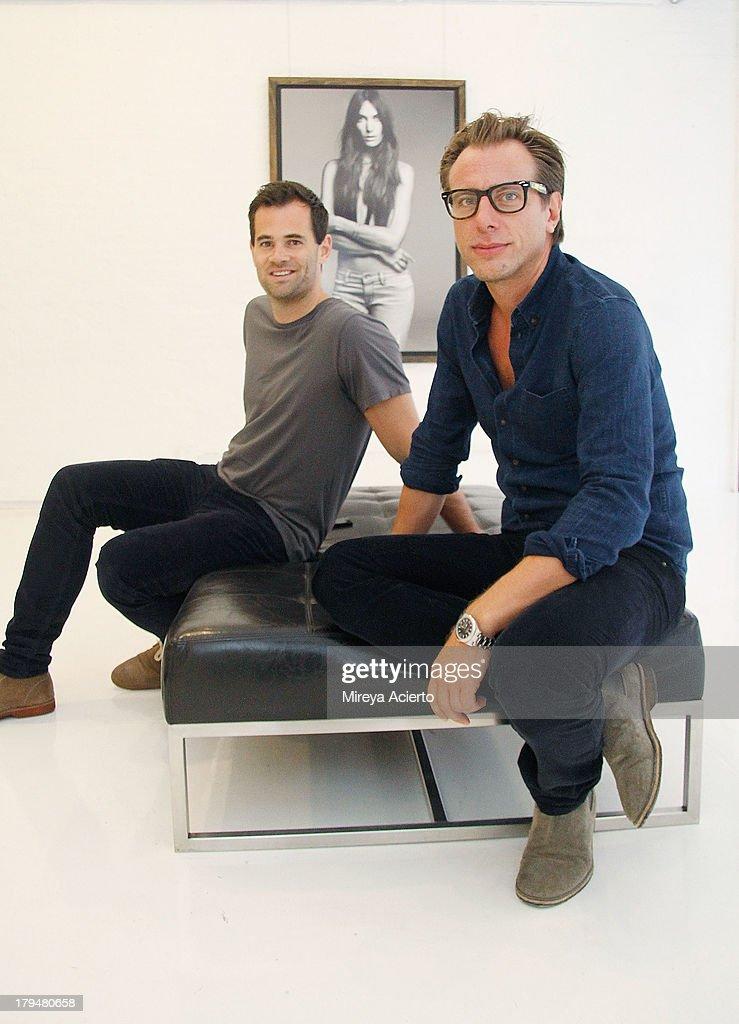 Jens Grede and Erik Torstensson attend the Frame Denim presentation during Mercedes-Benz Fashion Week Spring 2014 at Openhouse Gallery on September 4, 2013 in New York City.