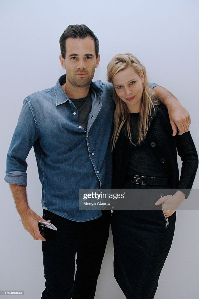 Jens Grede and Julia VonBehm attend the Frame Denim presentation during Mercedes-Benz Fashion Week Spring 2014 at Openhouse Gallery on September 4, 2013 in New York City.