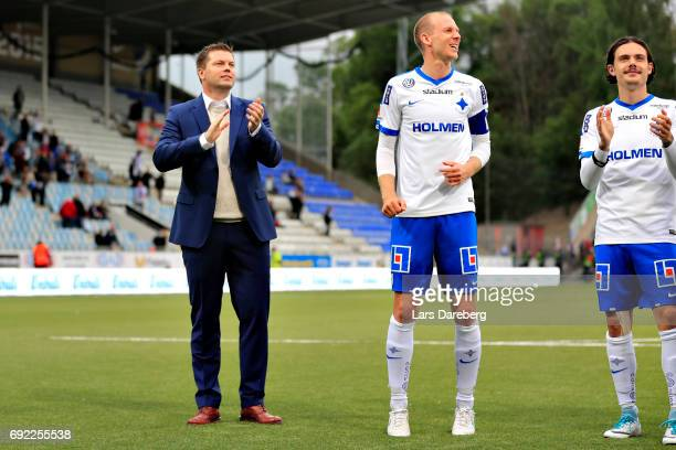 Jens Gustafsson head coach and Andreas Johansson after the Allsvenskan match between IFK Norrkoping and IFK Goteborg on June 4 2017 at Ostgotaporten...