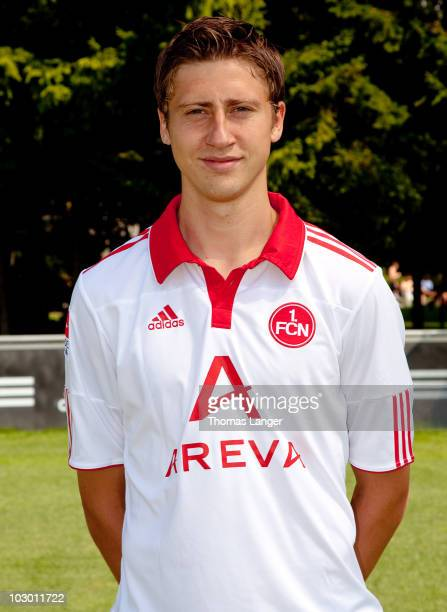 Jens Hegeler poses during the 1 FC Nuernberg team presentation on July 19 2010 in Nuremberg Germany